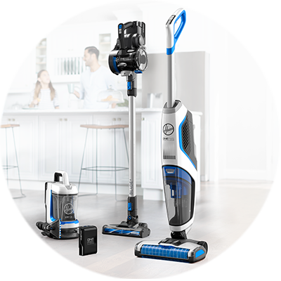 An image of the new HOOVER ONEPWR Cordless Cleaning System